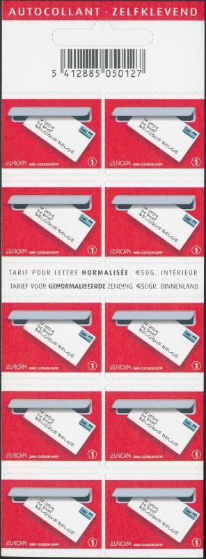 Europa CEPT self-adhesive stamp-booklet Europa CEPT öntapadós bélyegfüzet