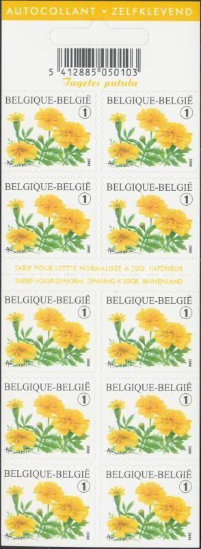 Flower self-adhesive stamp booklet Virág öntapadós bélyegfüzet