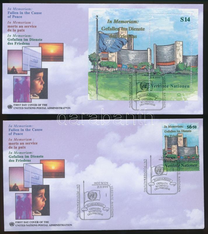 Peace stamp + block 2 FDC Béke bélyeg + blokk 2 FDC