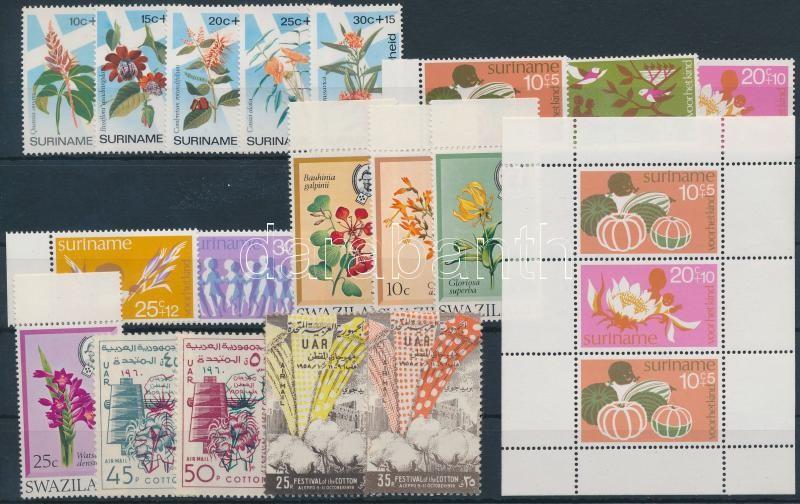 Flowers 1958-1974 5 sets + 1 block, Virág motívum 1958-1974 5 klf sor + 1 blokk