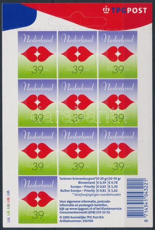 Greeting Stamps self-adhesive stamp booklet sheet Üdvözlőbélyeg öntapadós bélyegfüzetlap