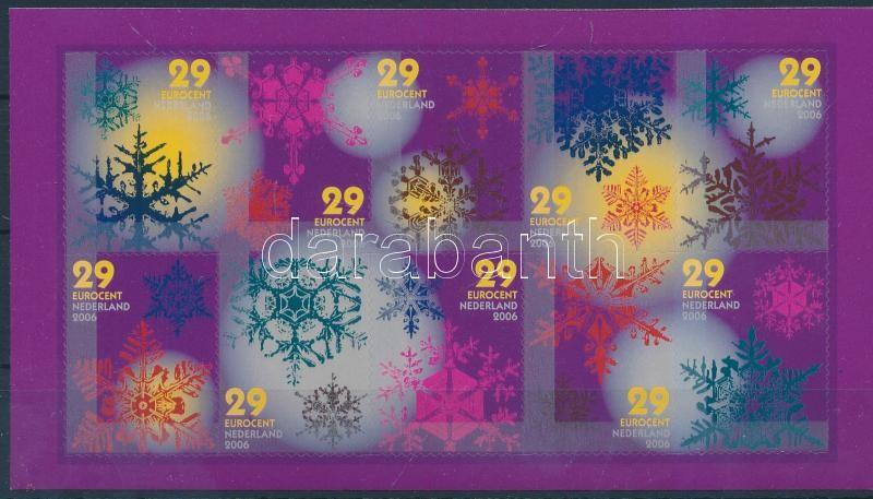 December self-adhesive minisheet, December öntapadós kisív