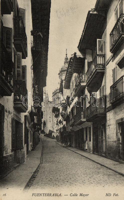 Hondarribia, Fuenterrabía; Calle mayor / street