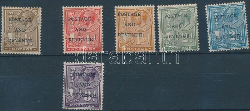 Definitive 6 stamps from set, Forgalmi sor 6 értéke