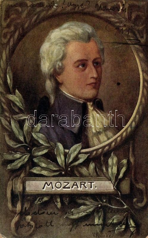 Mozart, floral, F.H. & S.W. IX. Nr. H. 280. s: V. Franke, Mozart, virágok, F.H. & S.W. IX. Nr. H. 280. s: V. Franke