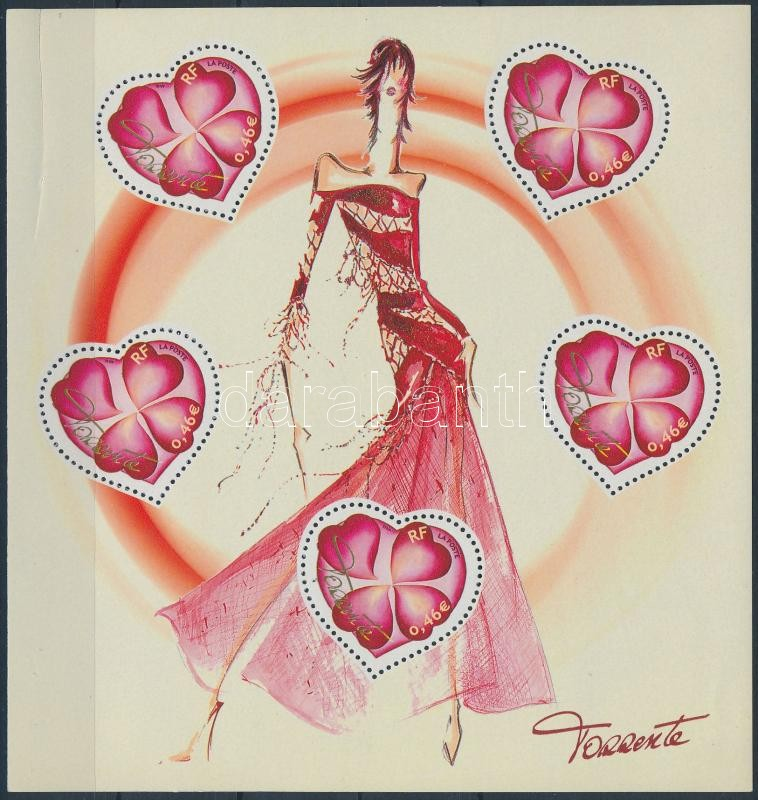 Greeting stamps: Valentine's Day minisheet, Üdvözlő bélyeg: Valentin nap kisív