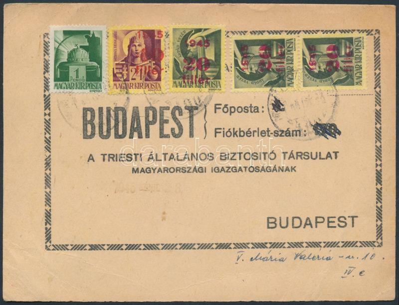 Inflation printed matter, (3. díjszabás) Nyomtatvány 5 bélyeges vegyes bérmentesítéssel
