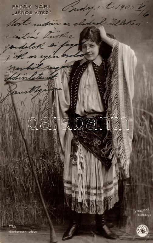 Fedák Sári; Hungarian actress, Strelisky No. 376/3., Fedák Sári; 'János Vitéz', Strelisky No. 376/3.