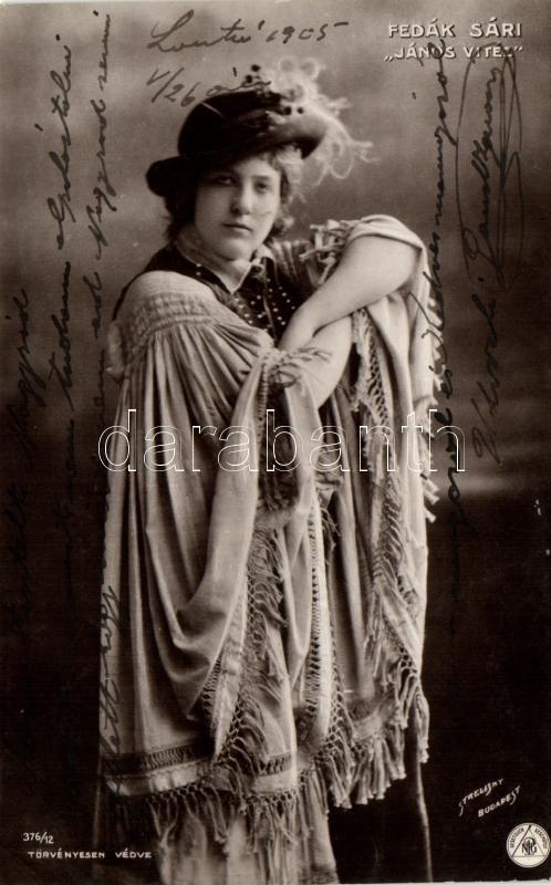 Fedák Sári;Hungarian actress, Strelisky No. 376/12., Fedák Sári; 'János Vitéz', Strelisky No. 376/12.