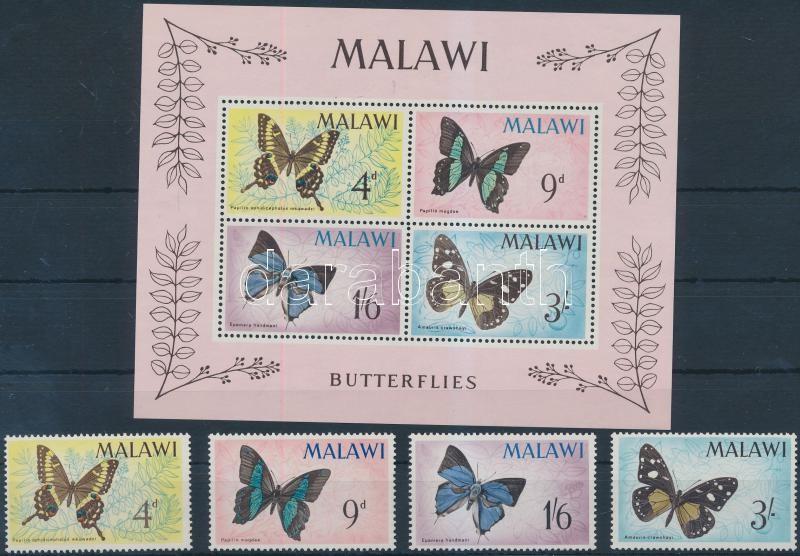 Butterflies set + block, Lepkék sor + blokk