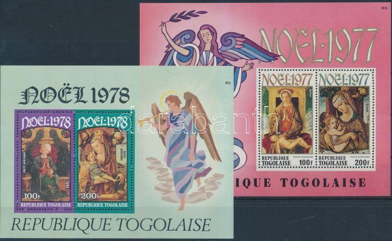 1977-1978 Christmas: paintings block, 1977-1978 Karácsony: festmények blokk