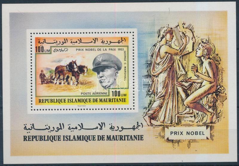 Nobel Prize winners: George Marshall block Nobel díjasok: George Marshall blokk