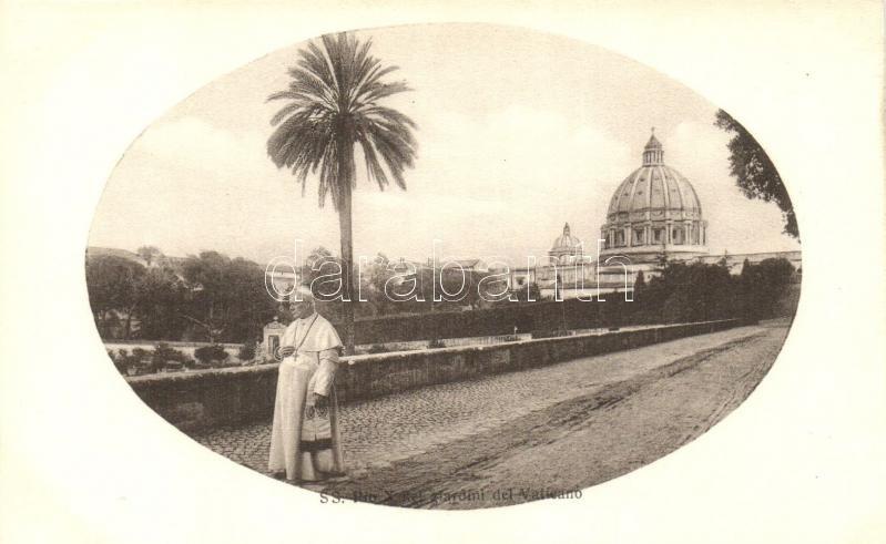 X. Piusz pápa, Vatikán kert, S. S. Pio X nel giardini del Vaticano / Pope Pius X, Giardino Vaticano / Pope Pius X, Vatican Garden