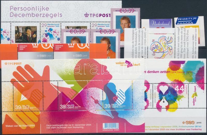 2000-2008 10 stamps and 5 blocks, 2000-2008 10 db bélyeg és 5 blokk 2 stecklapon