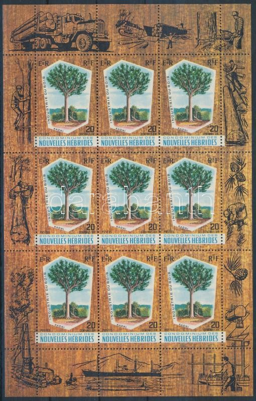 Kauri tree mini sheet, Kauri fenyőfa kisív
