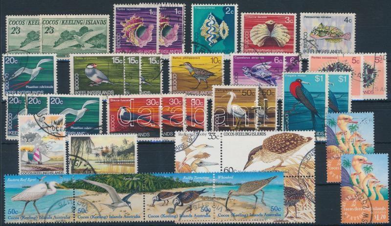 1963-2003 43 Bird stamps and 1 block 1963-2003 43 db Madár motívumú bélyeg és 1 blokk 2 stecklapon