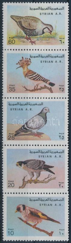 Bird set stripe of 5, Madár sor ötöscsíkban