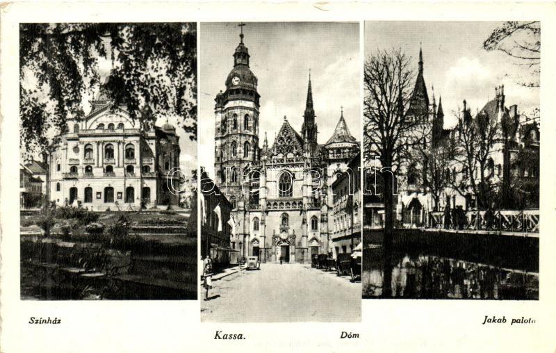 Kosice, dome, theatre, palace, Kassa, Dóm, színház, Jakab palota