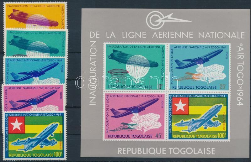 Togo airline; Flight set + block, Togoi légitársaság; Repülő sor + blokk