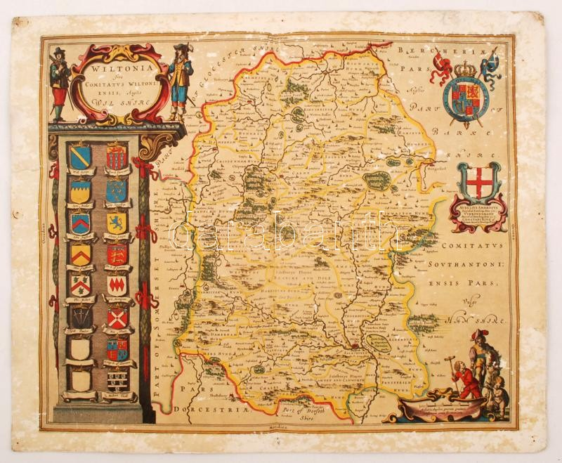 anglia megye térkép Wiltshire(Anglia) megye térképe, az 1648 as térkép másolata  anglia megye térkép
