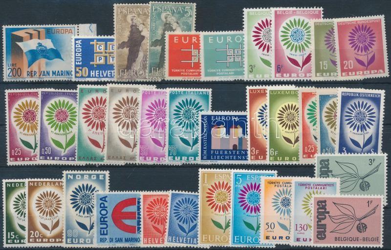 Europa CEPT 1963-1965 15 sets + 6 individual values, Europa CEPT 1963-1965 15 klf sor + 6 klf önálló érték