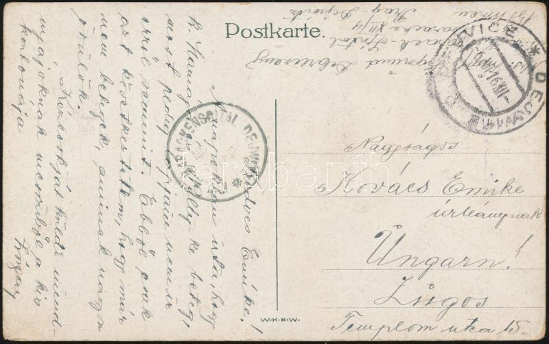 """Postcard """"K.u.K. BARACKENSPITAL DEJWITZ"""" + """"DEJWICE"""" - Lugos, Képeslap """"K.u.K. BARACKENSPITAL DEJWITZ"""" + """"DEJWICE"""" - Lugos"""