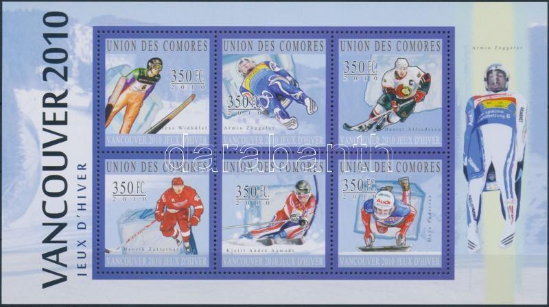 Winter Olympics, Vancouver mini sheet, Téli olimpia, Vancouver kisív