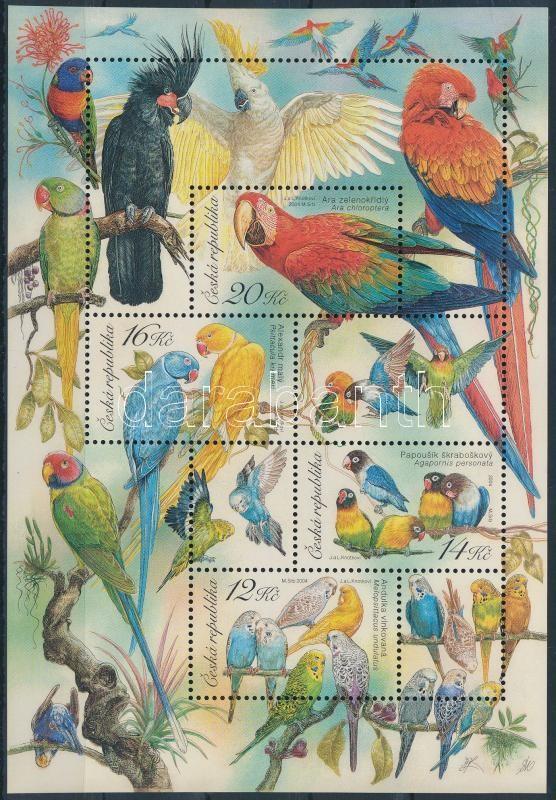 Parrtos set, Papagájok blokk