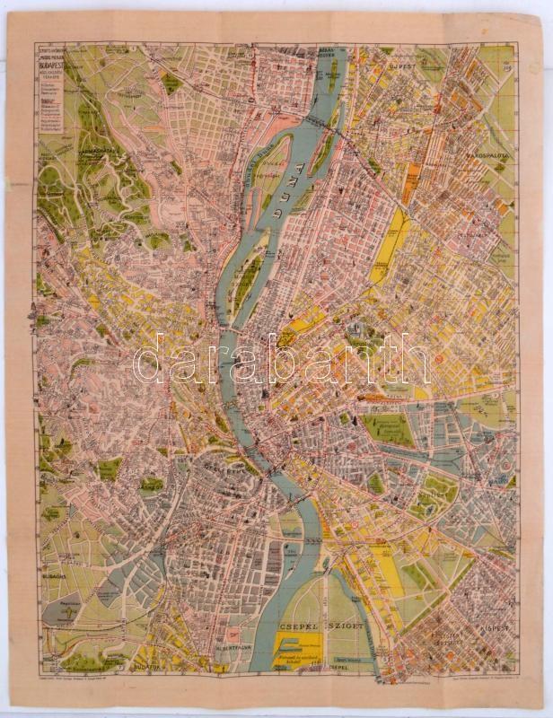 budapest térkép 1940 cca 1940 Budapest közlekedési térkép, Stoits György, Merre  budapest térkép 1940