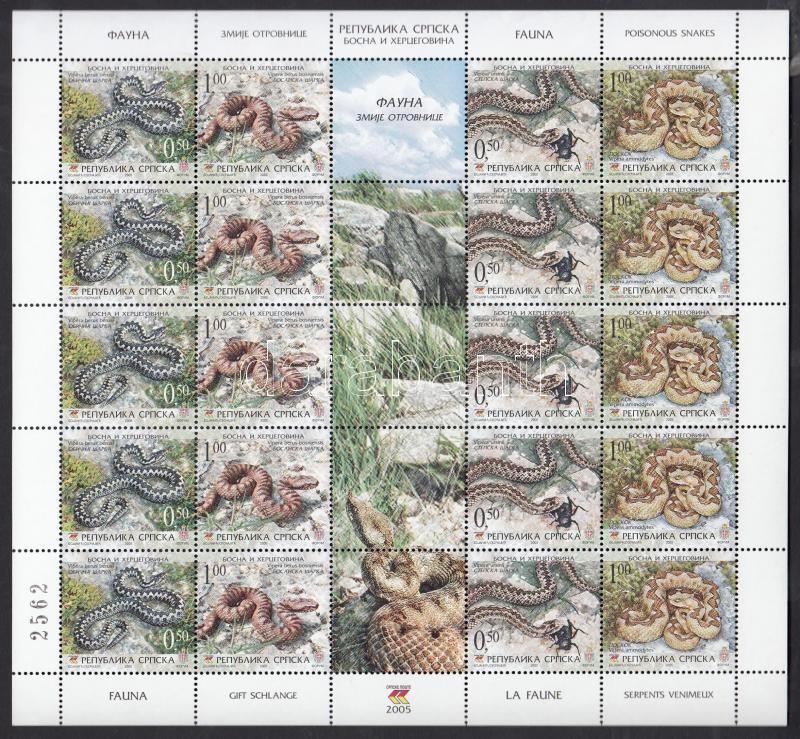 Snakes mini sheet, Kígyók kisív