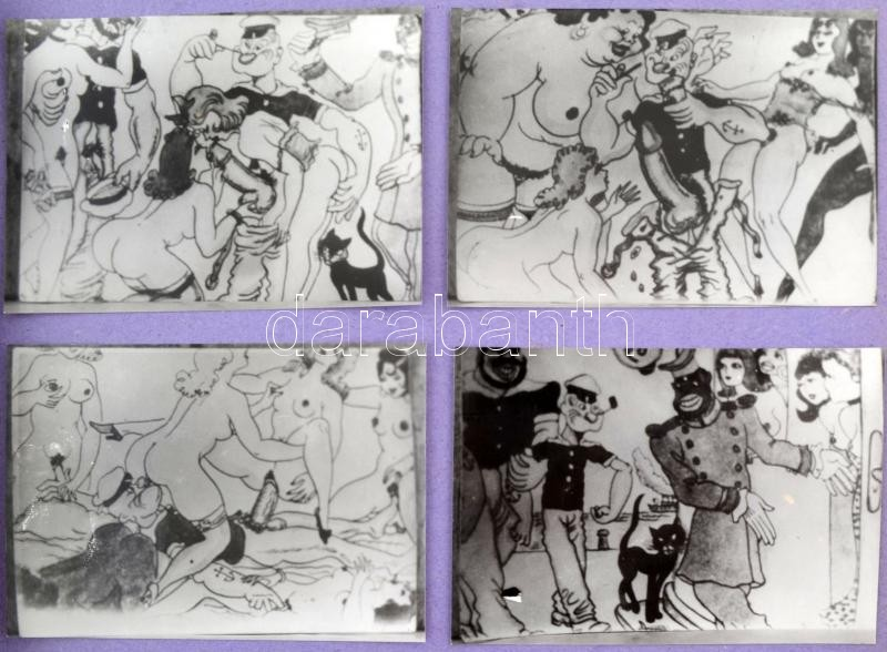 Vintage porno karikatúra