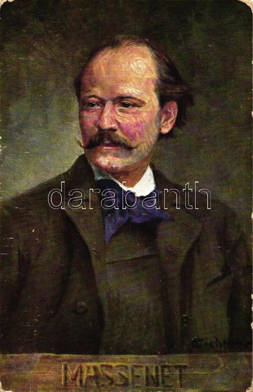 Jules Massenet, B.K.W.I. serie 874-22, s: Eichhorn (worn edges), Jules Massenet, B.K.W.I. serie 874-22, s: Eichhorn (kopott sarkak)
