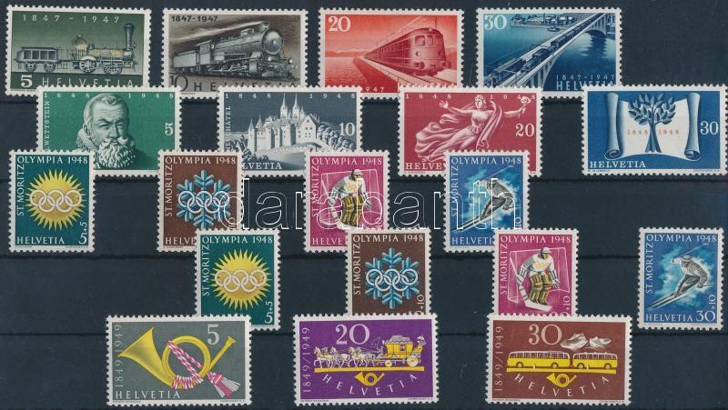 1947-1949 5 sets, 1947-1949 5 db sor