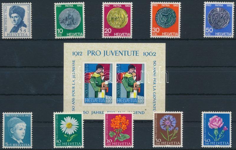 1962-1963 2 diff sets + block, 1962-1963 2 klf sor + blokk