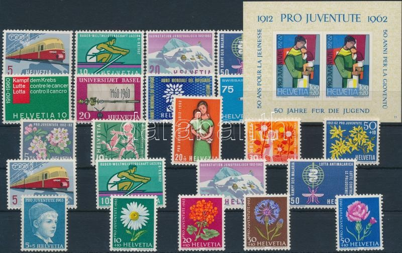 1960-1963 5 sets + 1 block, 1960-1963 5 db sor + 1 db blokk
