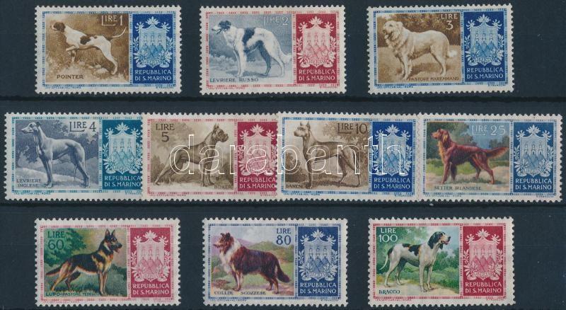 Pedigree dogs set, Törzskönyves kutyák sor