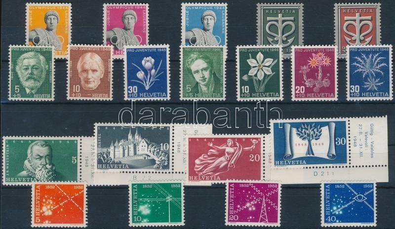 1944-1952 3 stamps + 5 sets, 1944-1952 3 klf bélyeg + 5 klf sor