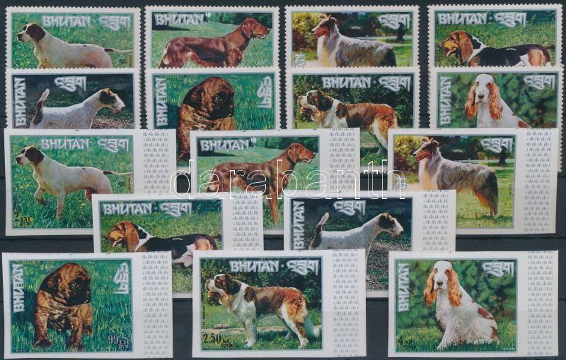 Kutyafajták a világ minden tájáról fogazott és vágott sor Dog breeds from around the world perforated and imperforated set