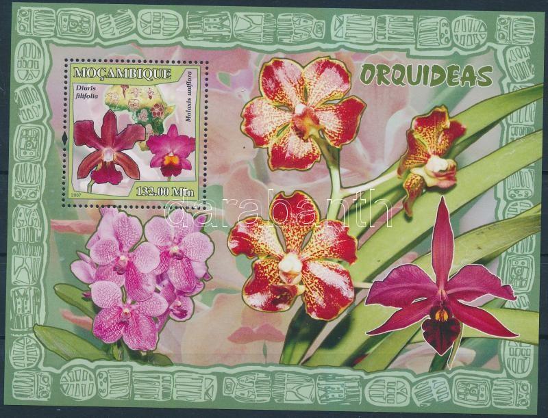 Orchidea blokk Orchids block
