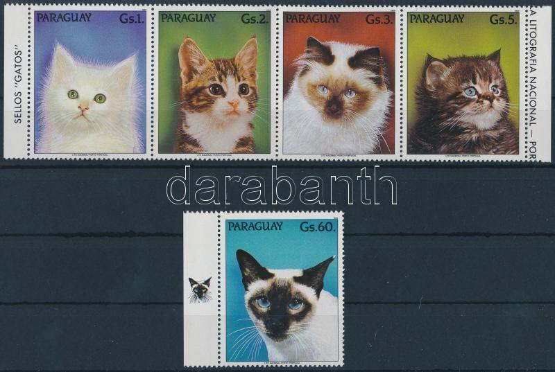 Cats set Macskák sor, benne 4-es csík