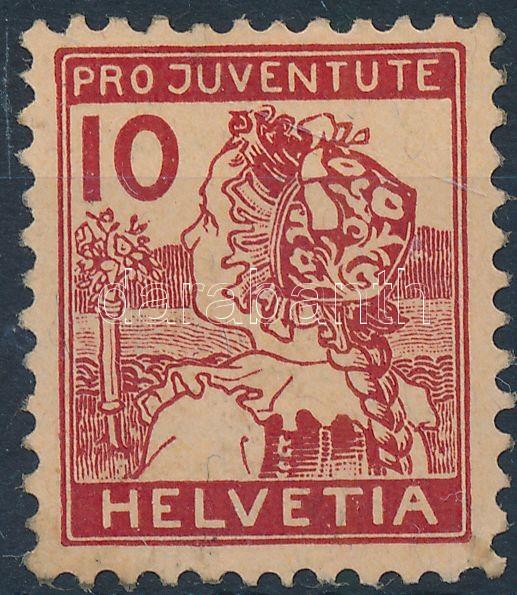 Pro Juventute bélyeg (betapadás), Pro Juventute stamp (gum disturbance)