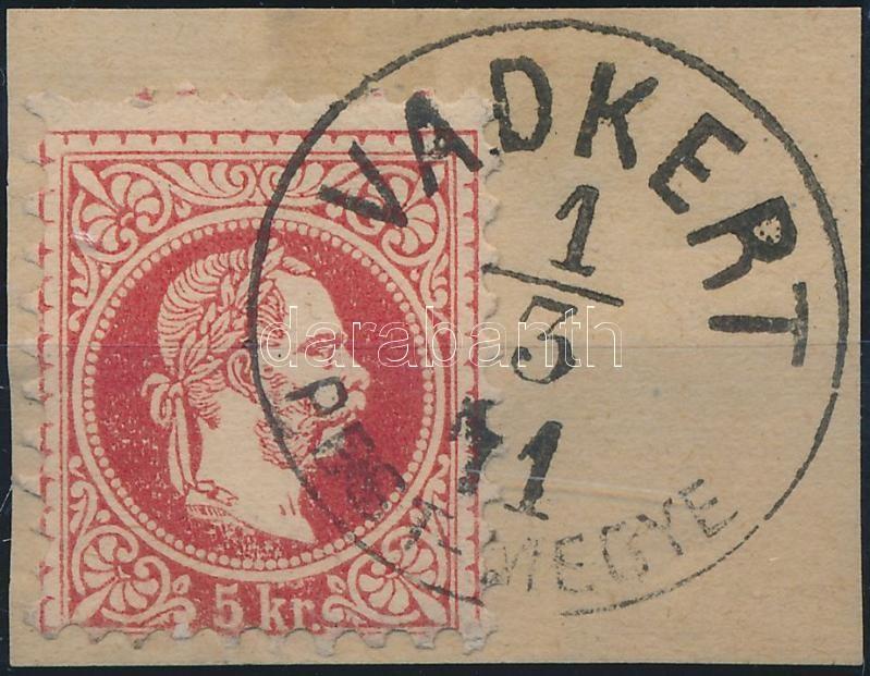 """""""VADKERT / PEST-MEGYE"""" Austria-Hungary classic postmark """"VADKERT / PEST-MEGYE"""""""