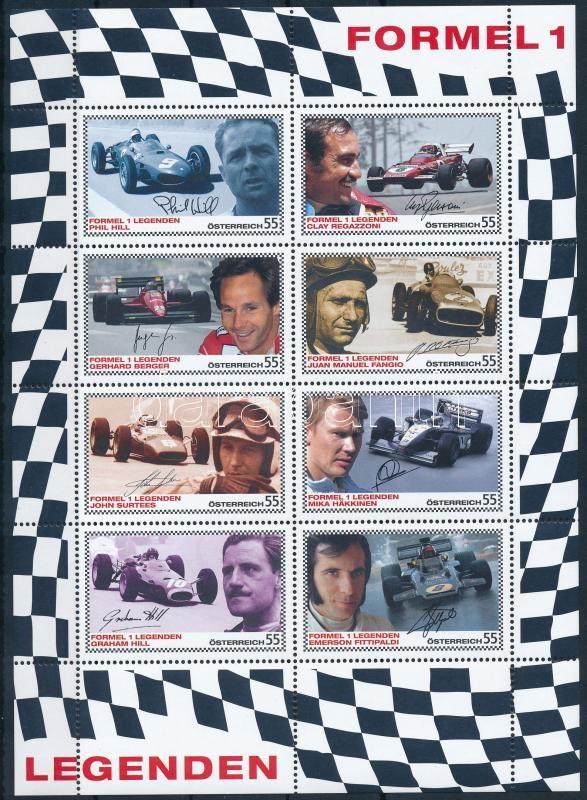 Formula 1 mini sheet Forma 1 kisív