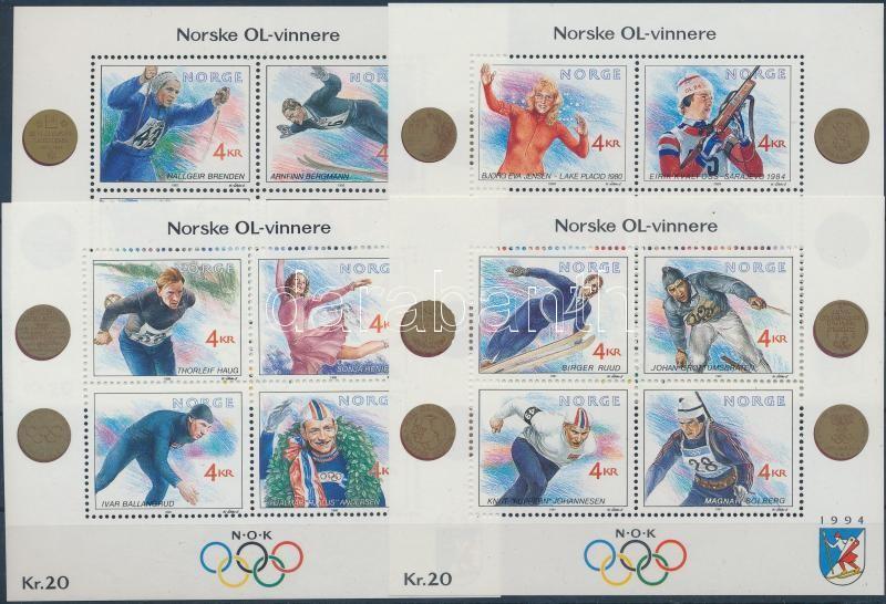 Téli Olimpia (I-IV.) blokk sor Winter Olympics (I-IV.) blockset