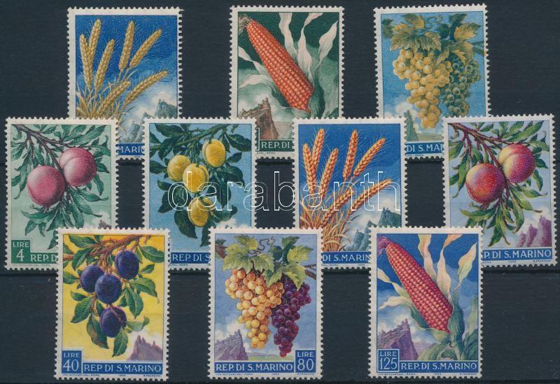 Fruits set Gyümölcs sor