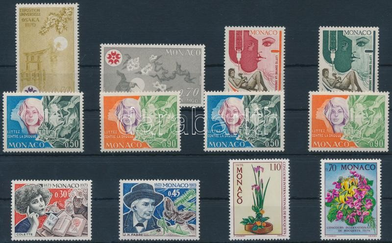 1970-1975 4 stamps + 4 sets 1970-1975 4 klf bélyeg + 4 db sor