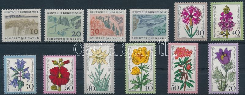 1969-1975 Nature protection and flower 3 sets 1969-1975 Természetvédelem és virág 3 klf sor