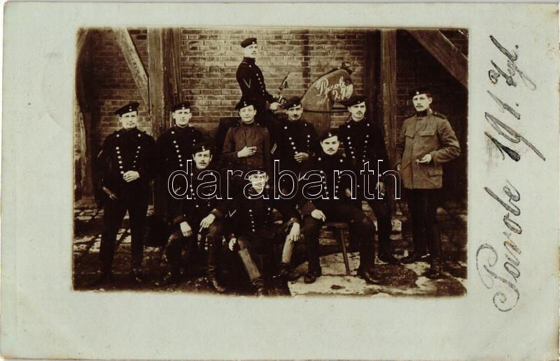 1914 2nd Royal Bavarian Uhlans, German soldiers group photo, 1914 2. királyi bajor ulánusezred katonái, fotó