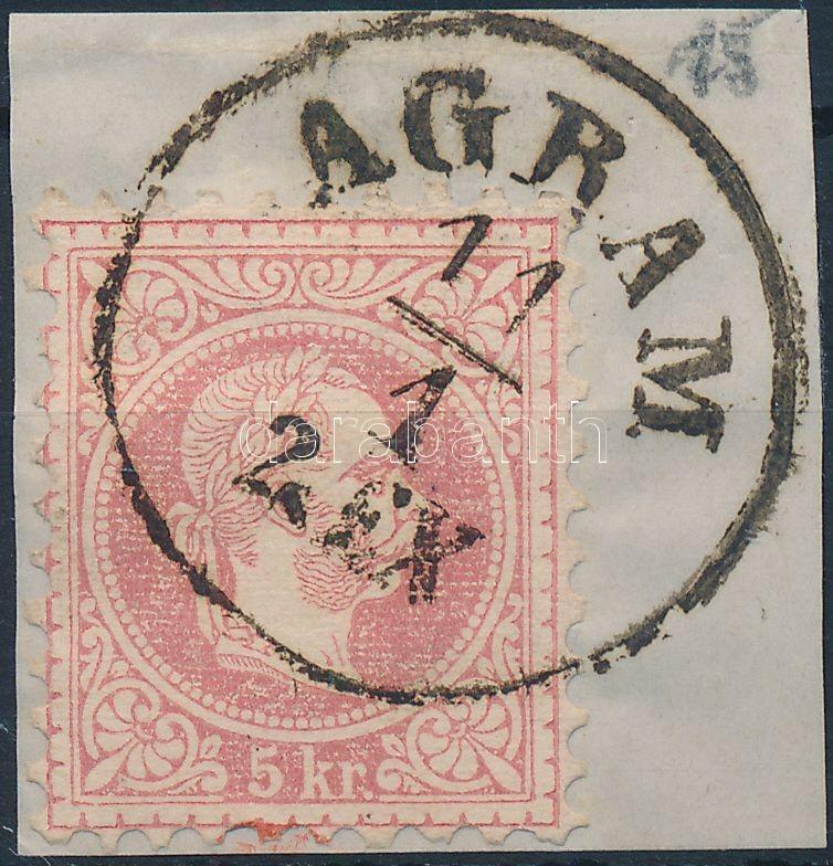"Austria-Hungary-Croatia postmark ""AGRAM EX."", ""AGRAM EX."""