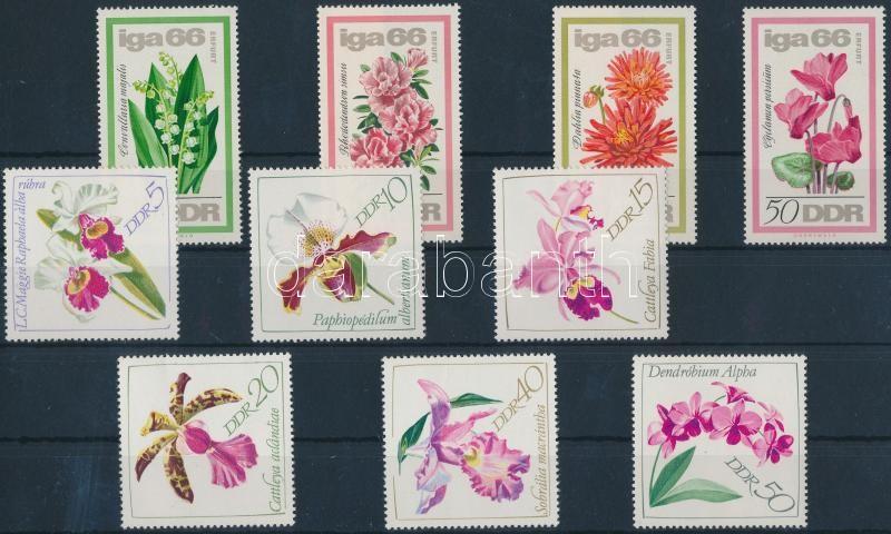 1966-1968 Flowers 2 diff sets, 1966-1968 Virág 2 klf sor